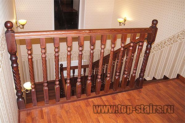 деревянная лестница из лиственницы 3