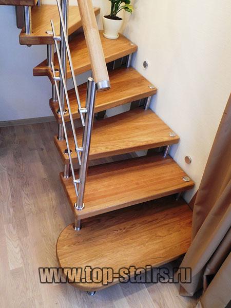 лестница на косоуре и больцах