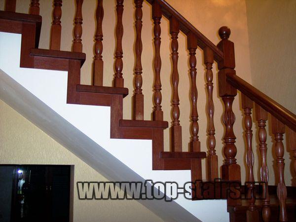 деревянные ограждения лестницы