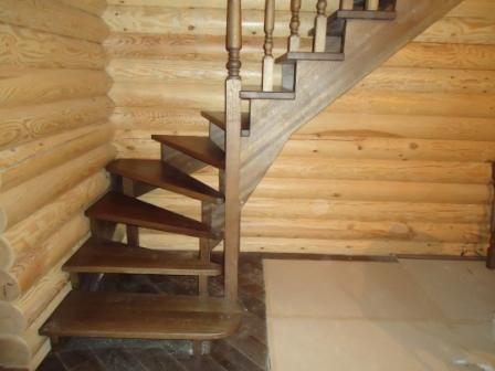 лестница из дерева на дмитровке