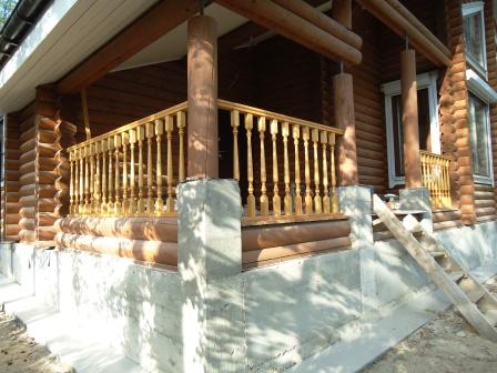 деревянное ограждение